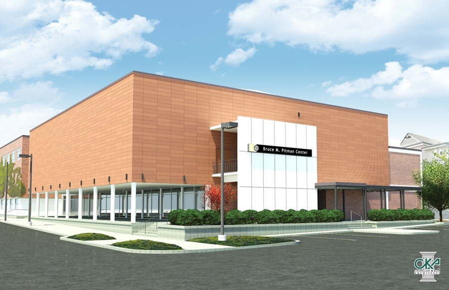 Rendering of Pitman Center with new tile