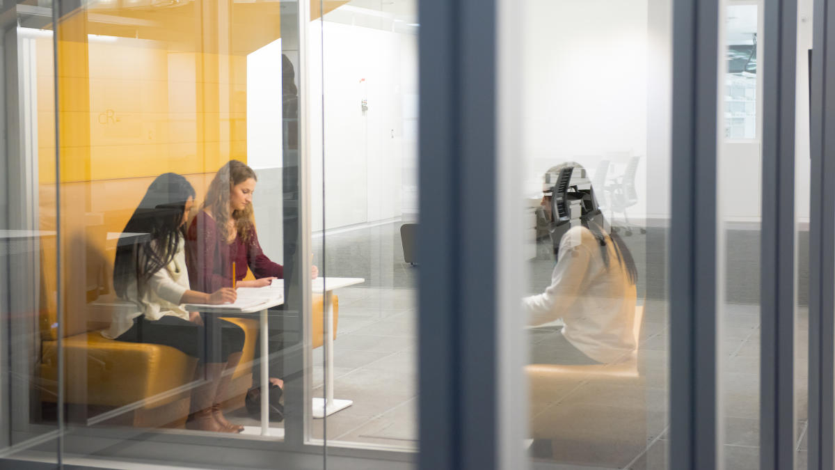 Students in an IRIC study space