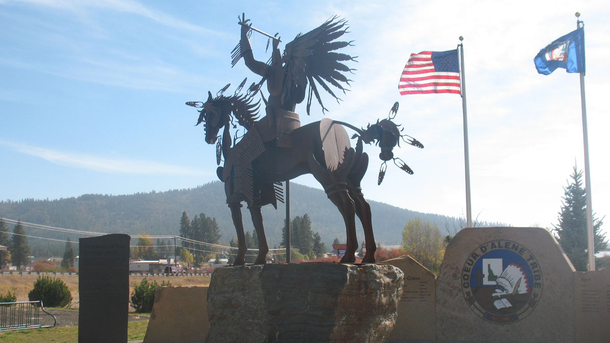 Coeur d'Alene Tribe dedicated a Veterans Memorial to honor veterans who served and protected the United States.