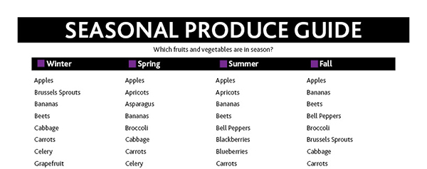 preview of Seasonal Produce Guide