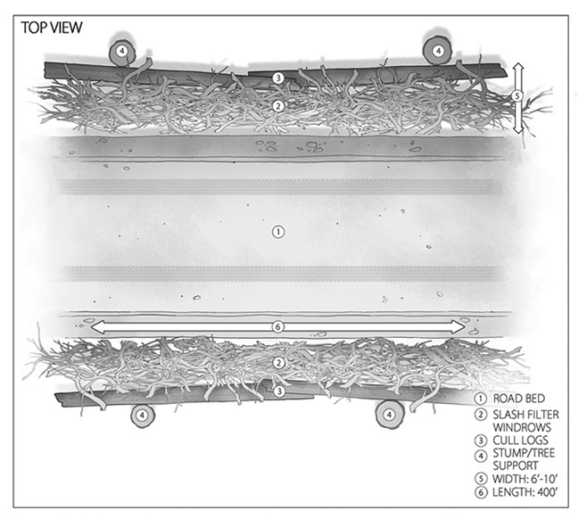 slash filter windrow diagram top view