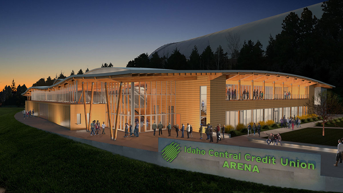 An artist's rendering of the Idaho Central Credit Union