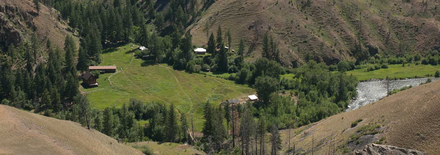 An aerial photograph of Taylor Wilderness Research Station.