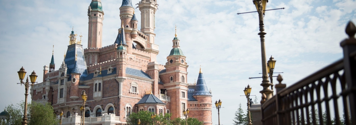 A castle at one of the Disney properties.