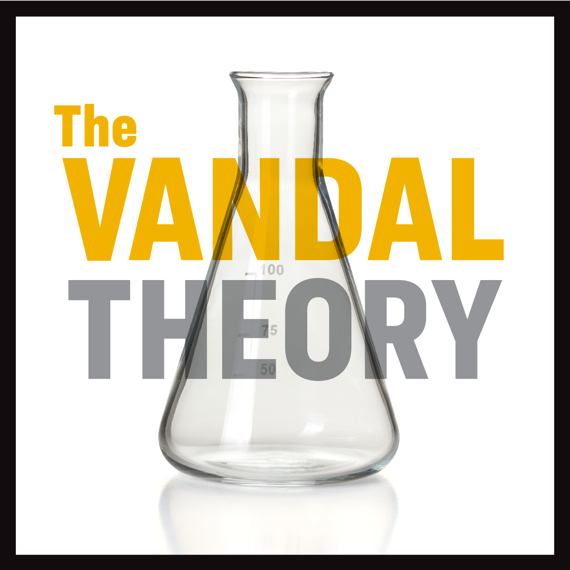 The logo for The Vandal Theory podcast.