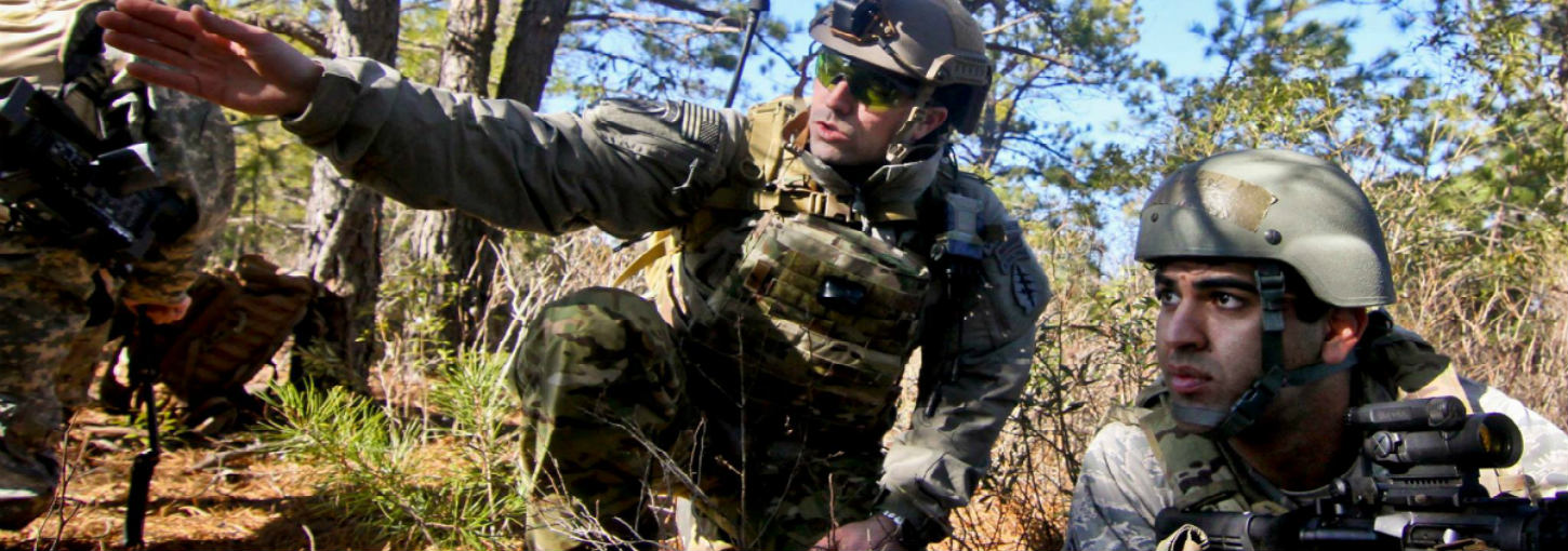 A Special Forces Soldier provides instruction on field operations.