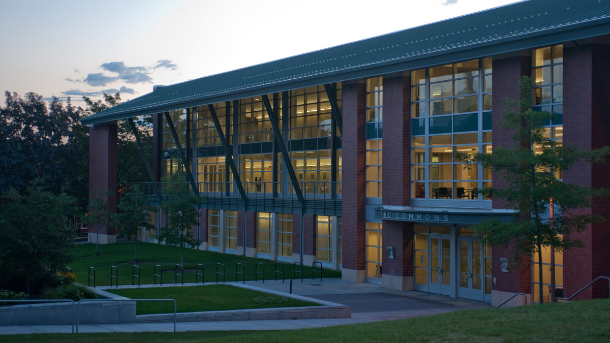 The Living Learning Center at dawn.
