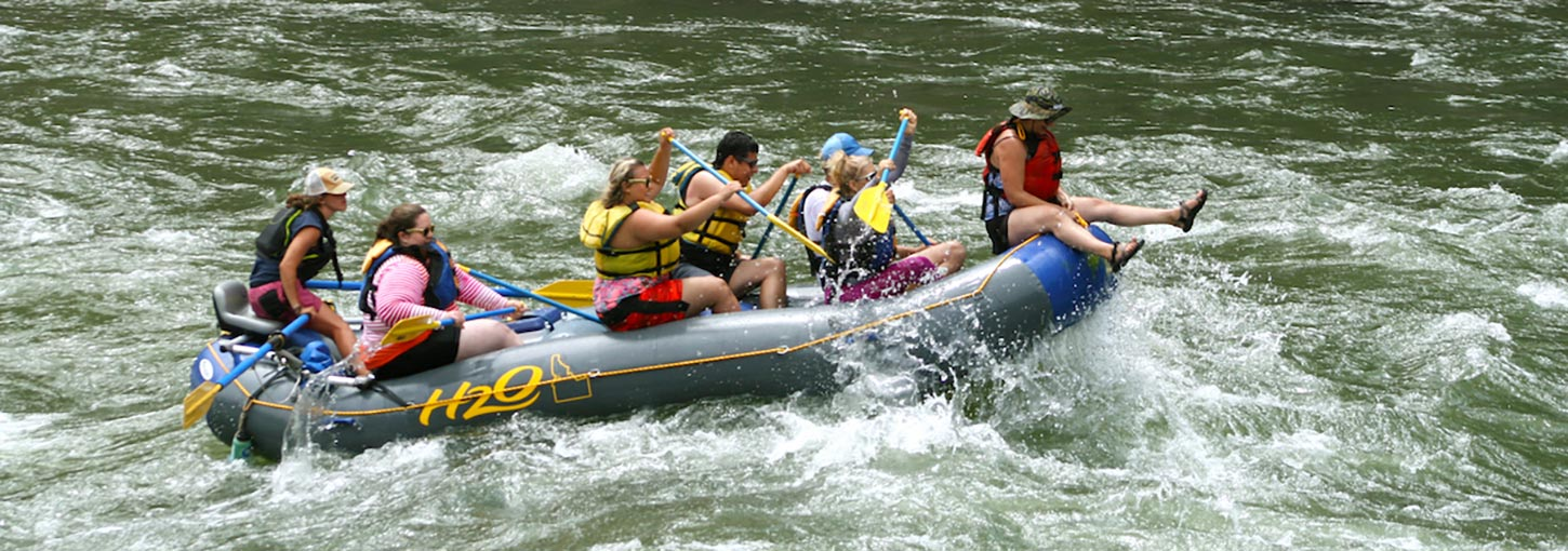 Vandals Rafting on the River