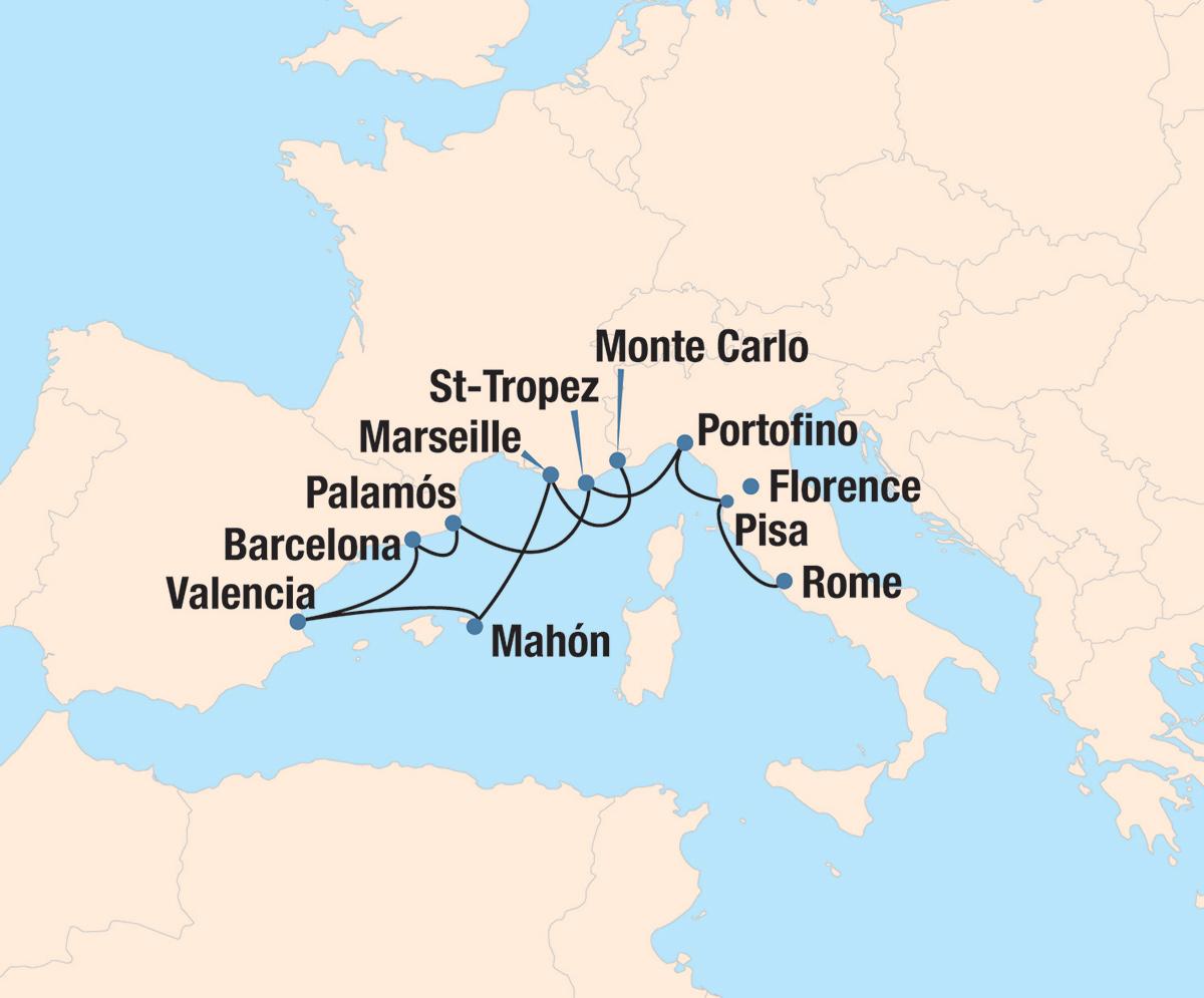 Mediterranean Radiance Route Map