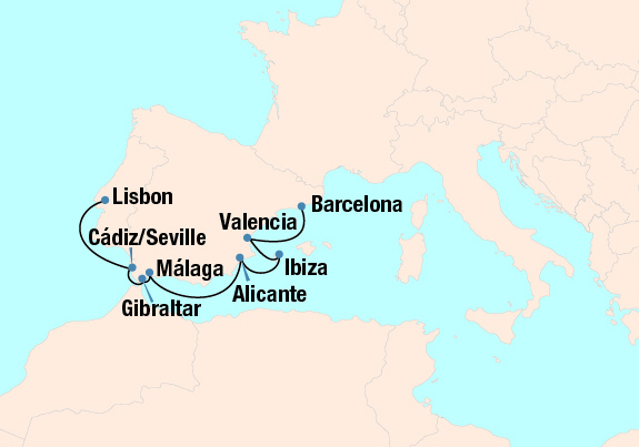 Map Of Tour Of Spain 2017.Salute To Spain