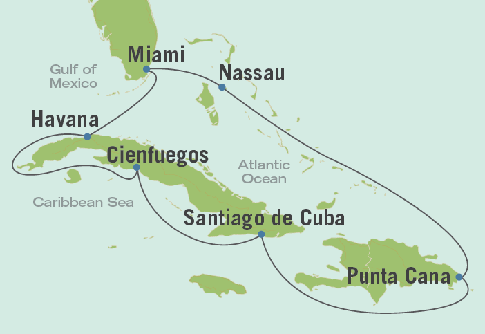 Preview image of Cuba tour map