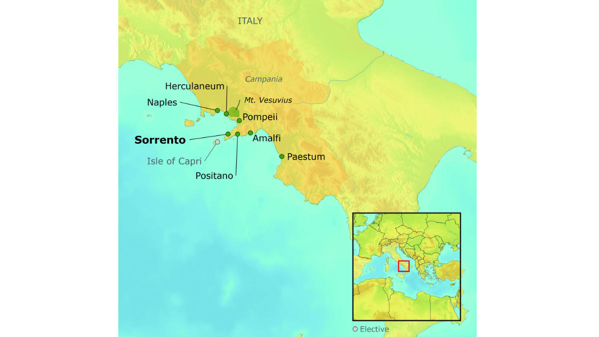 Sorrento Map