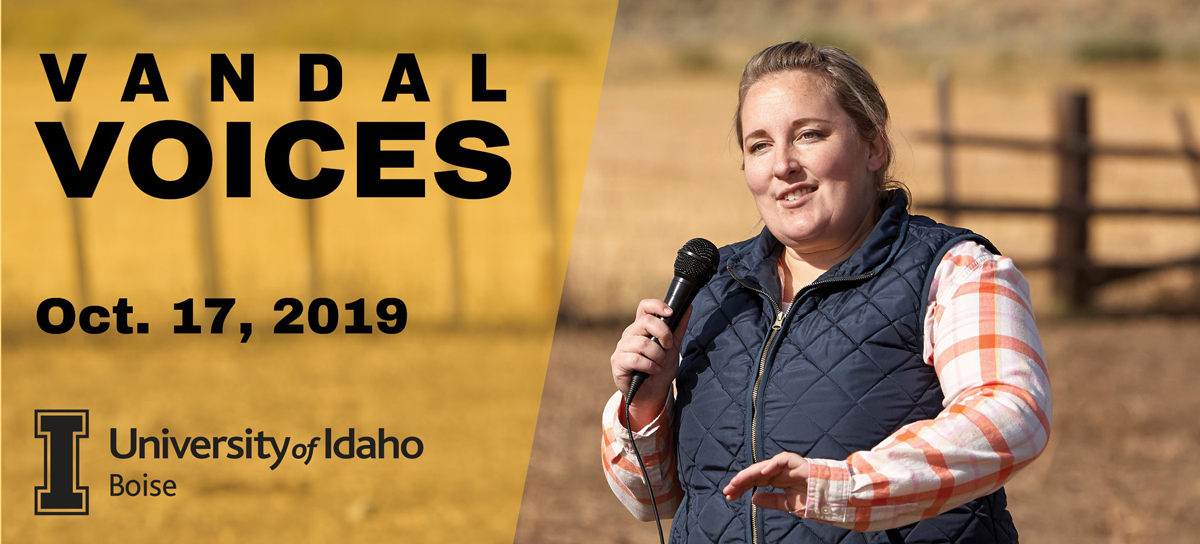"The Text: ""Vandal Voices: October 17, 2019: University of Idaho Boise"""