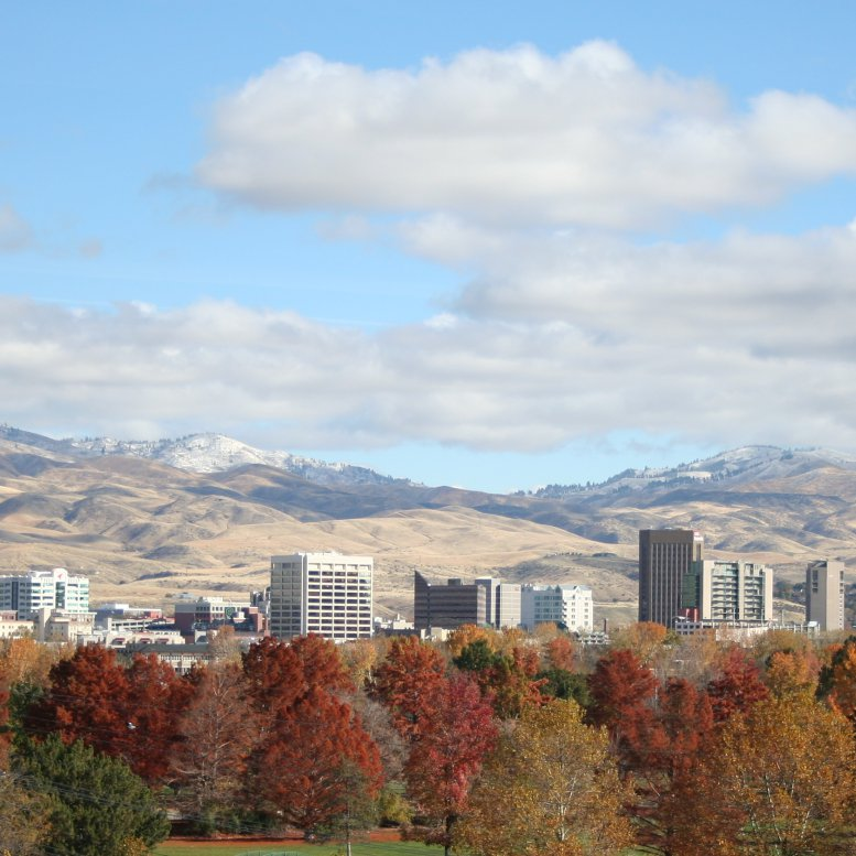 The city of Boise skyline from a distance.