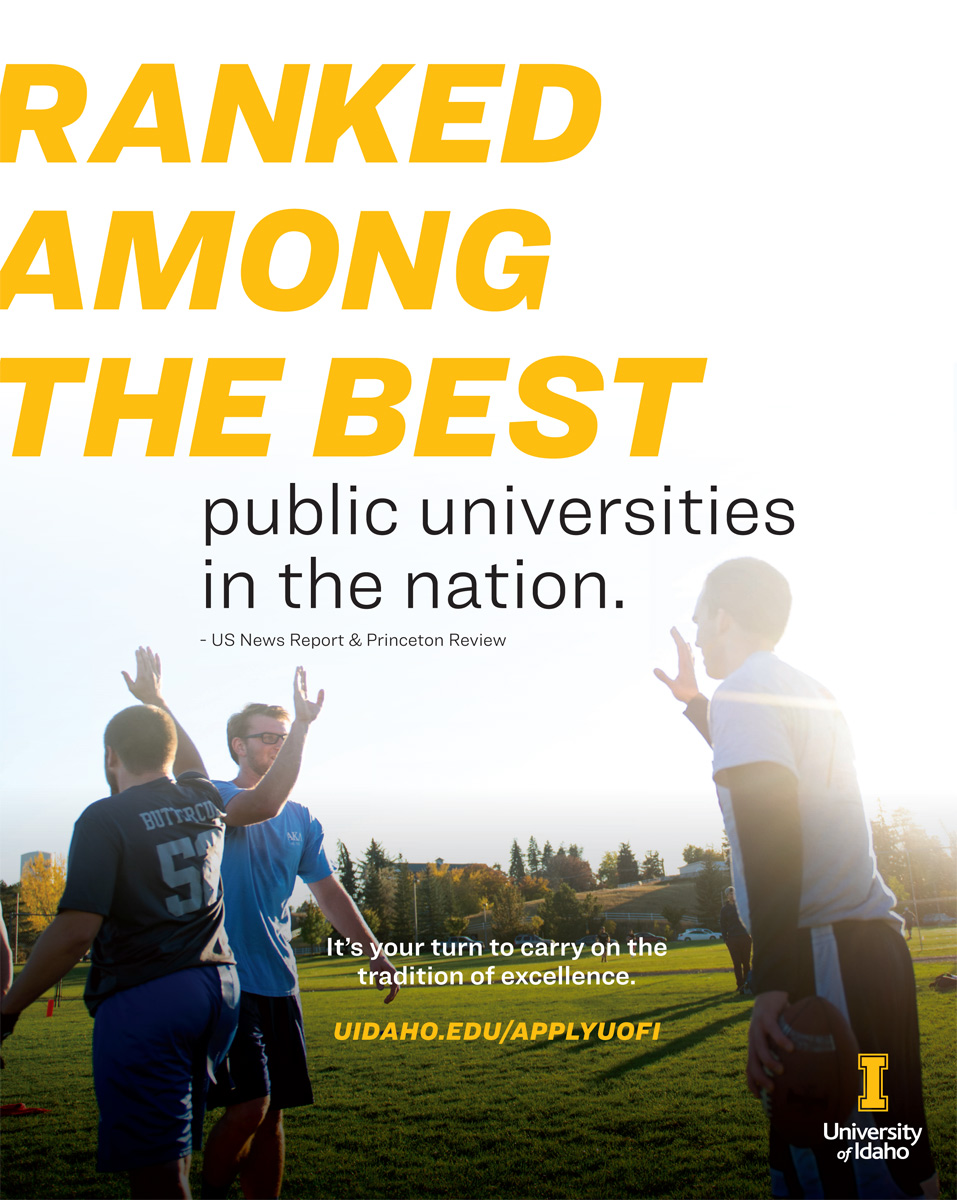 Ranked among the best public universities in the nation. University of Idaho.