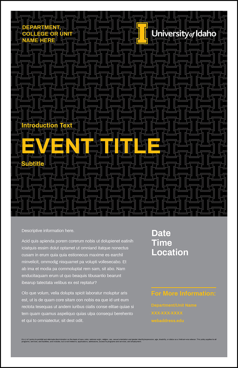 Poster Template Pattern Event