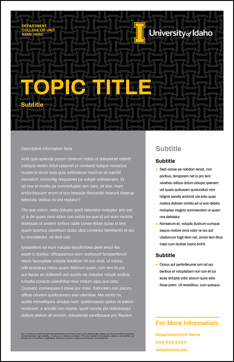 Poster Template Pattern Info