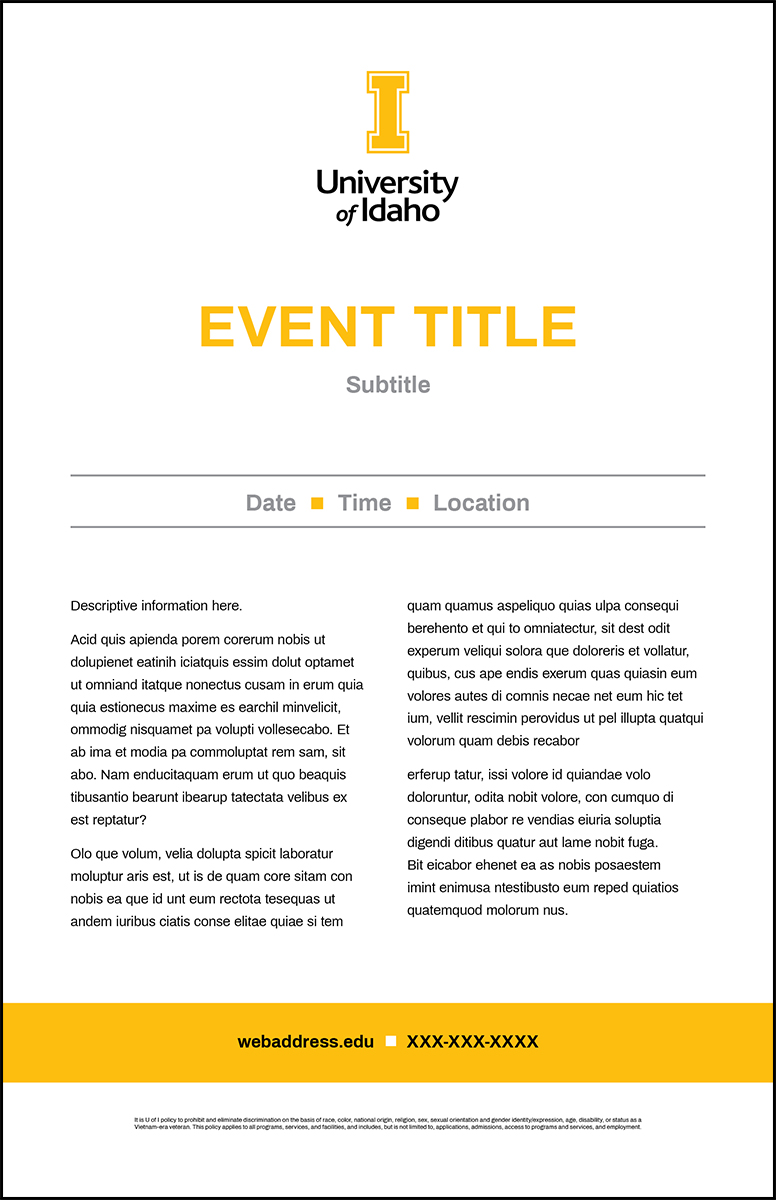 Poster Template Simple Event