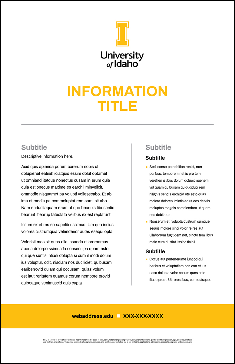Poster Template Simple Info