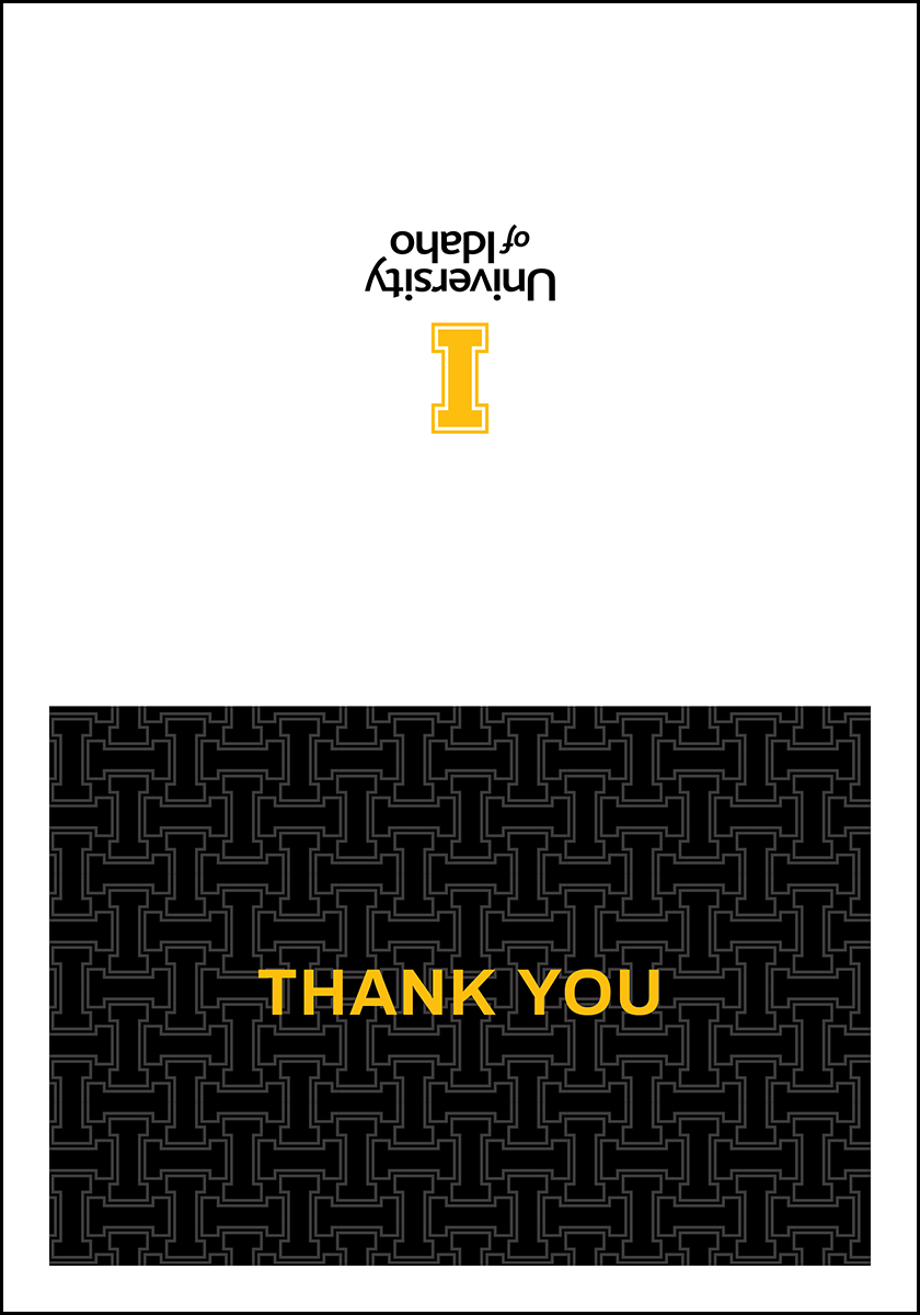 Horizontal Thank You Card Pattern Design