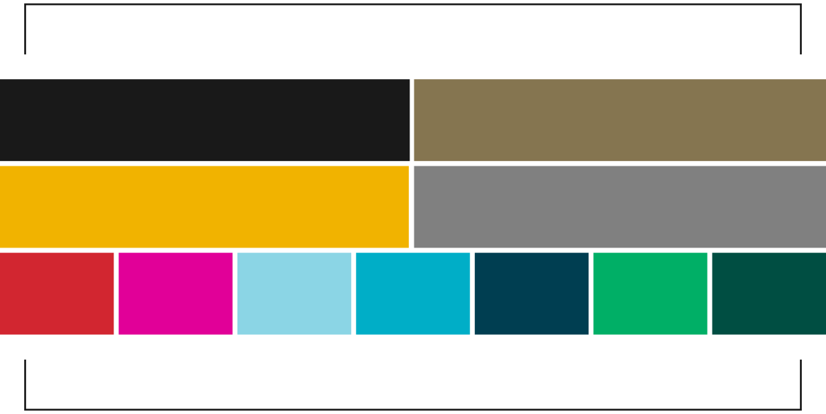 Color percentages, relative to each other