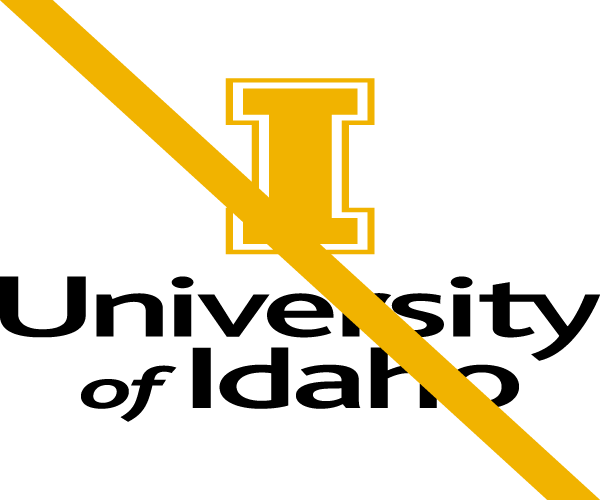 Do not distort the University of Idaho logo
