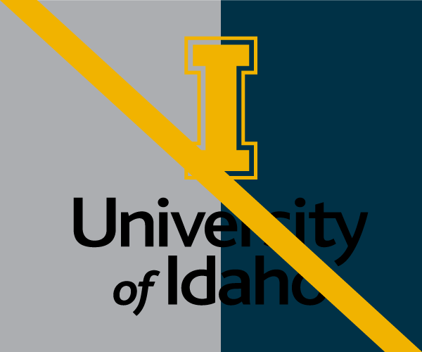 Do not place University of Idaho logo on distracting background
