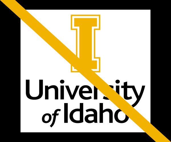 Do not encroach the University of Idaho logo
