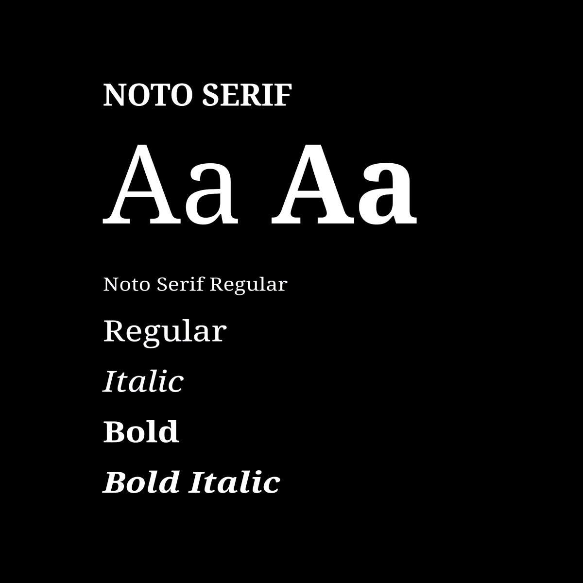 Preview of Noto Serif Typeface