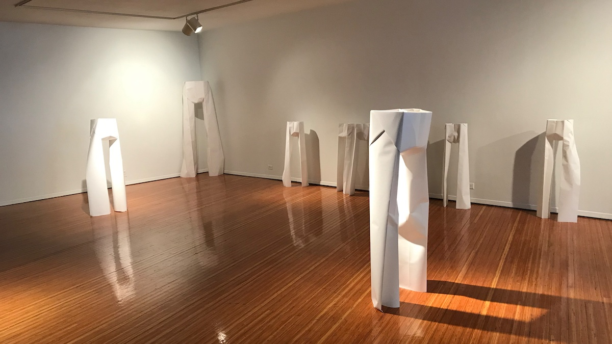 Sculpture installation in the Prichard.