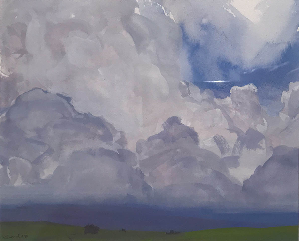 Oil painting of clouds by Aaron Johnson.