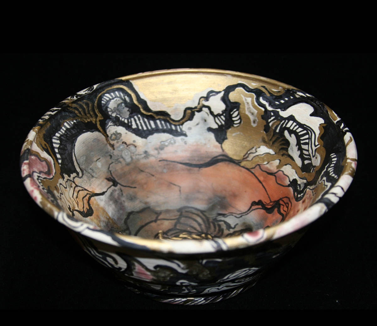 Ceramic bowl by Reba Robinson.