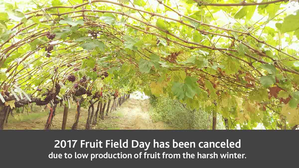 Parma's fruit field day was canceled for low production because of harsh winter