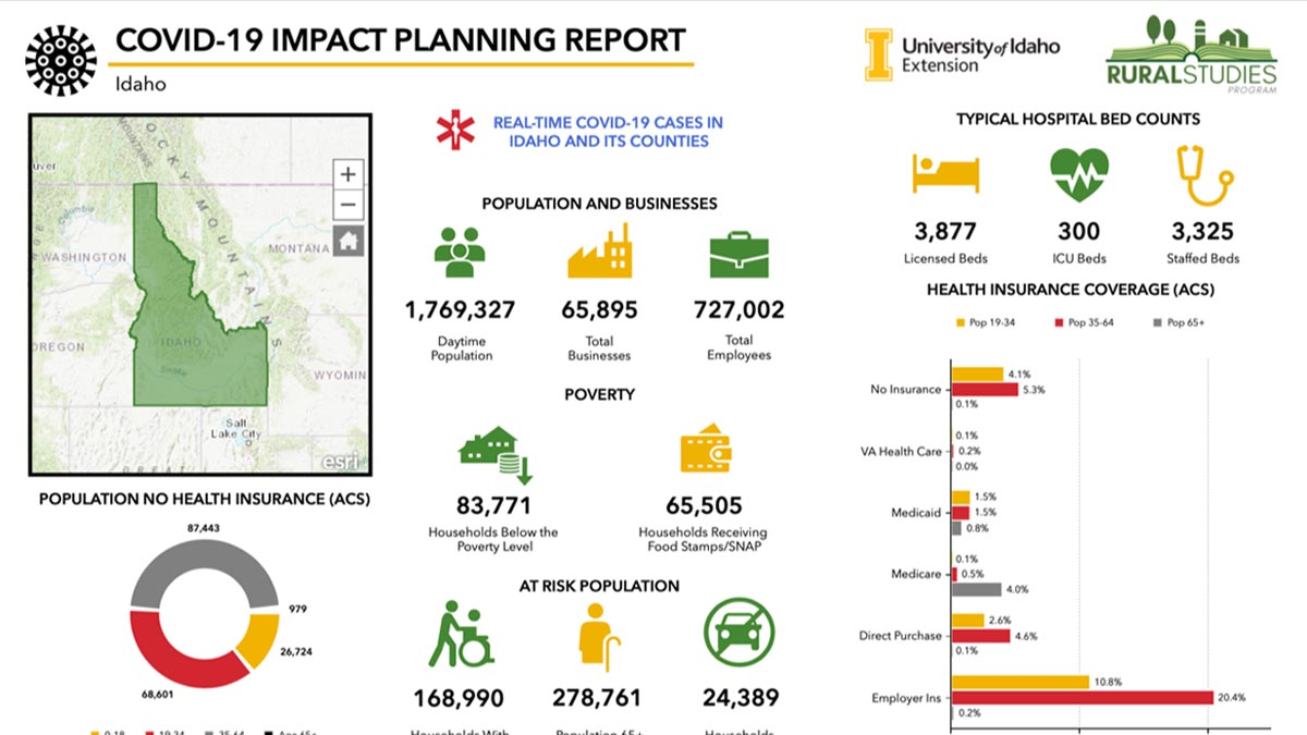 Graphic of COVID-19 impact planning report