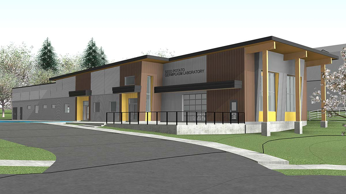 Rendering of the new facility for the Seed Potato Germplasm Laboratory