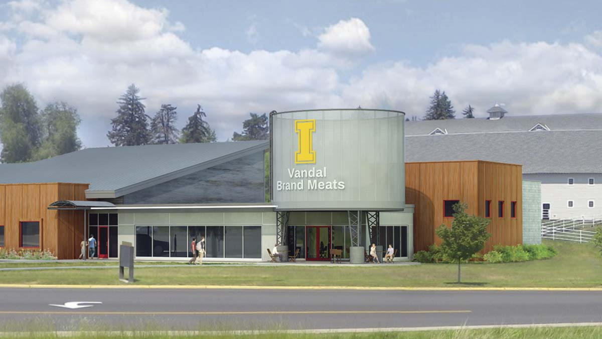 A rendering of a new meat science and innovation center that will house Vandal Brand Meats.