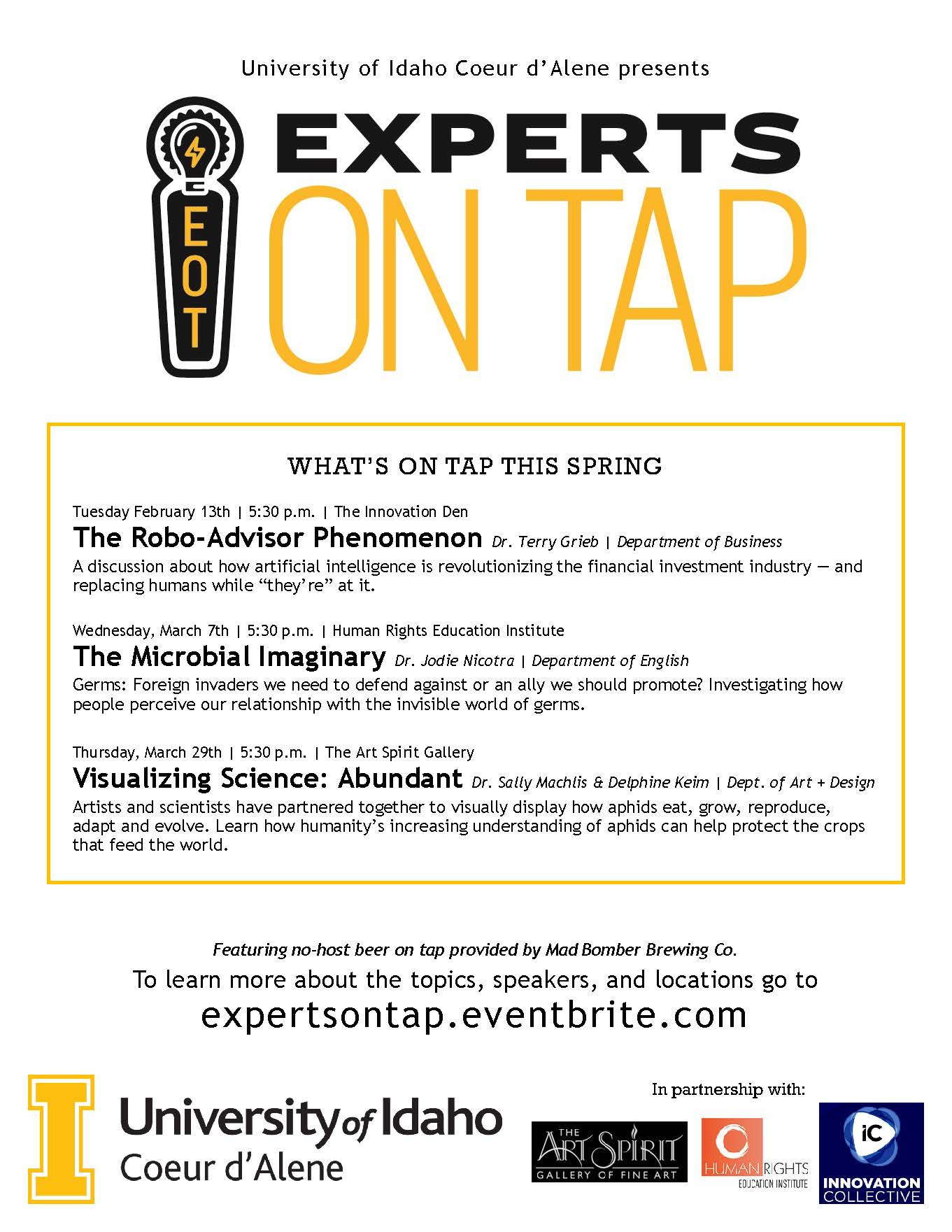 Experts on Tap Spring Series