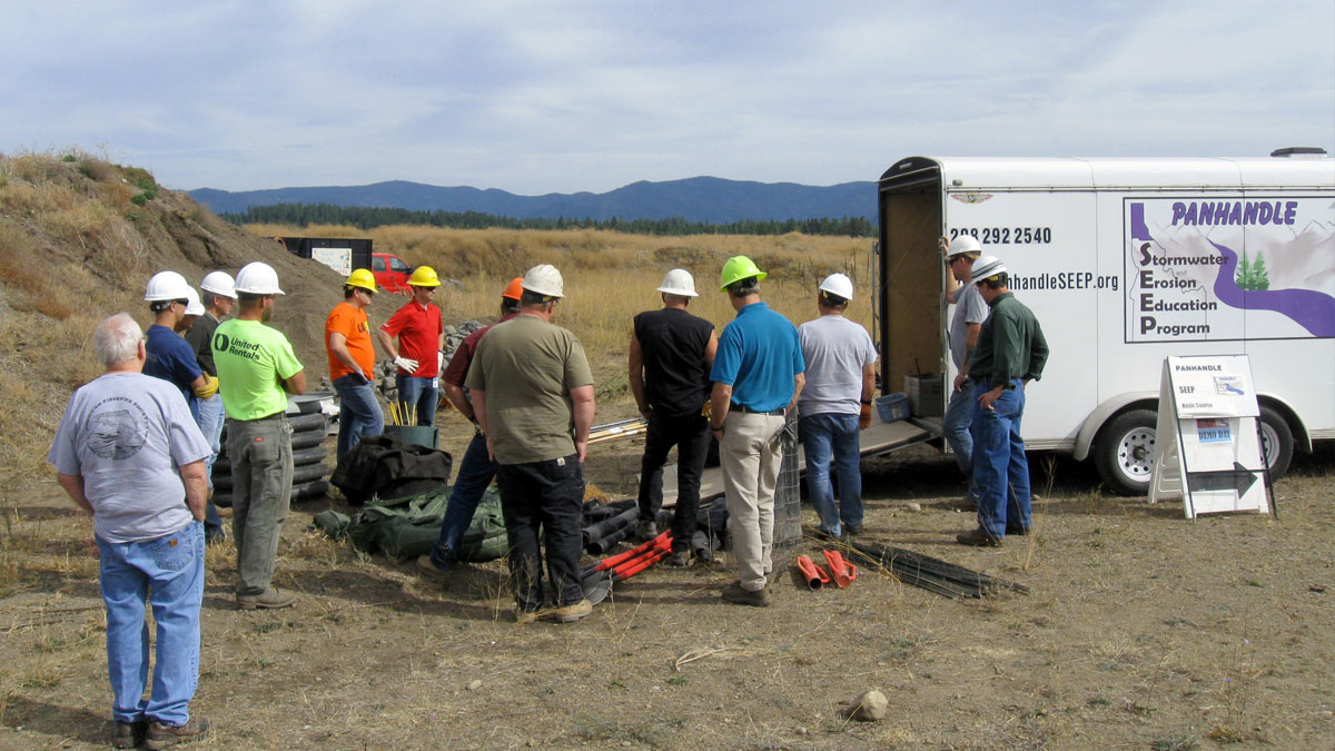 The Panhandle SEEP program on a field project.