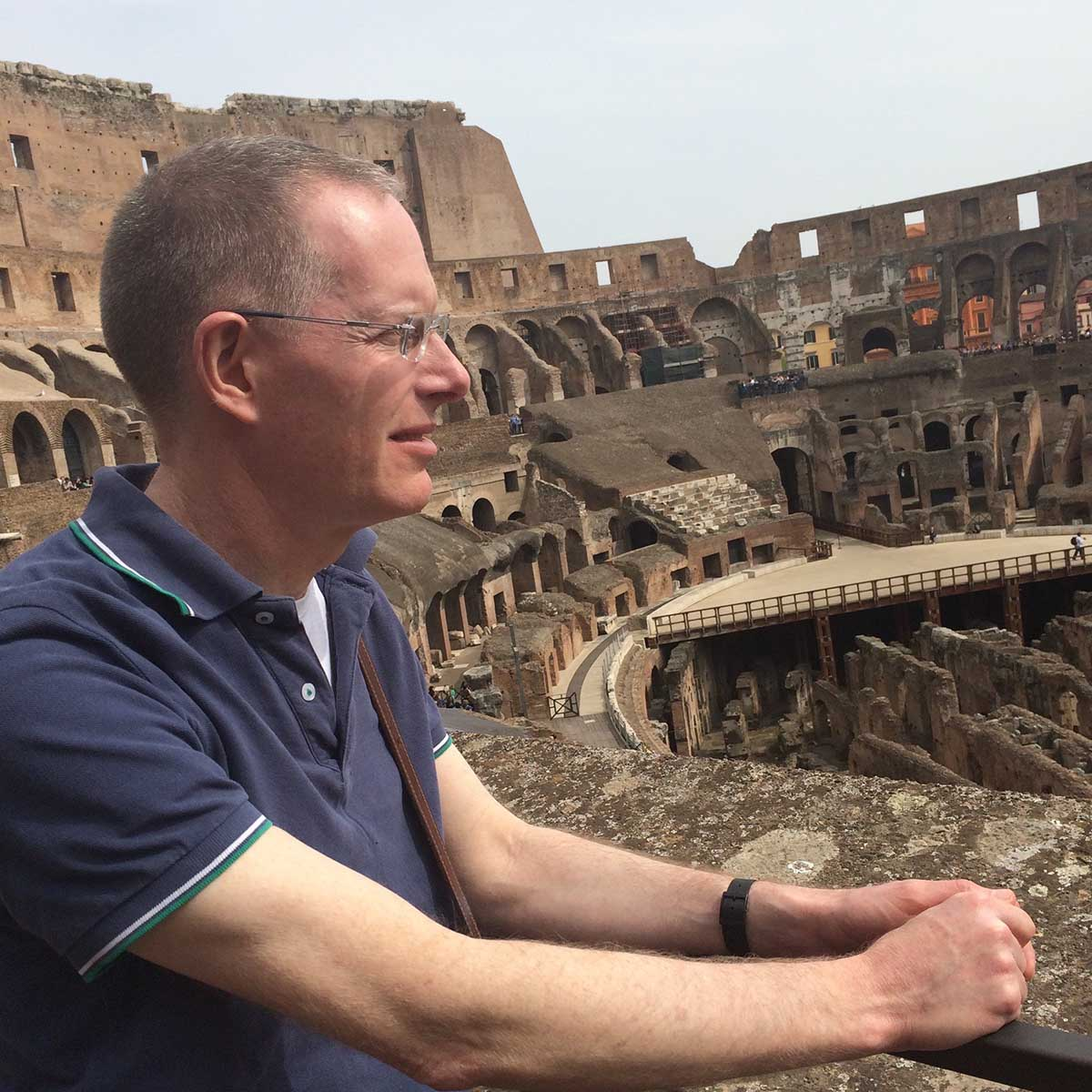 Sean Quinlan at the Coliseum in Rome, Italy