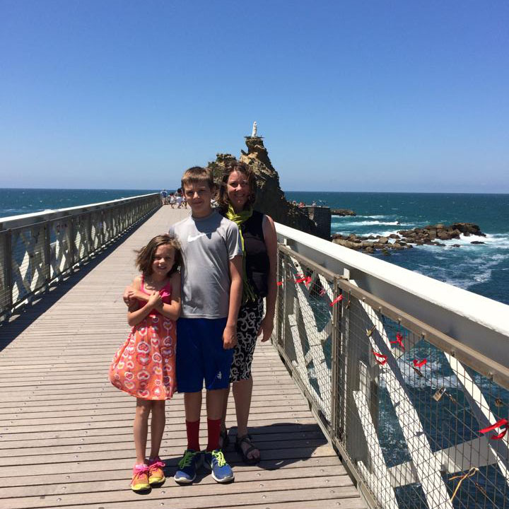Maddie, Mason and Kelli Schrand in Spain