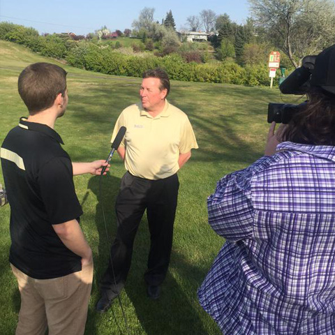 Inside The Vandals interviewing men's golf coach John Means about the team's NCAA tournament berth.