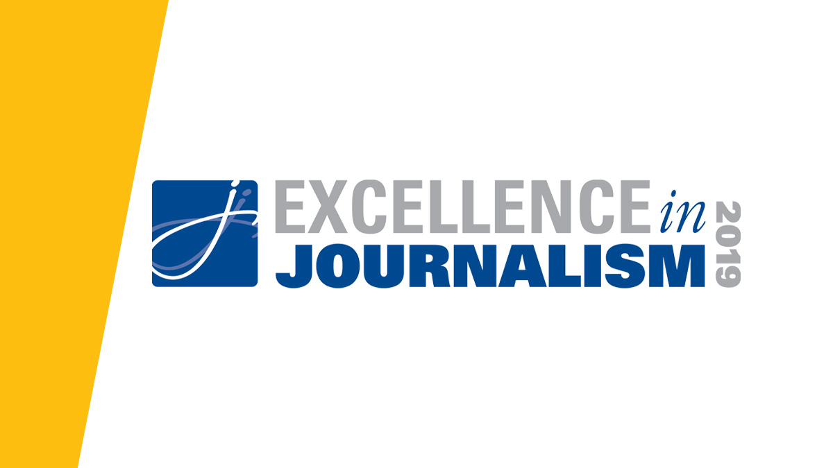 Logo mark for excellence in journalism 2019