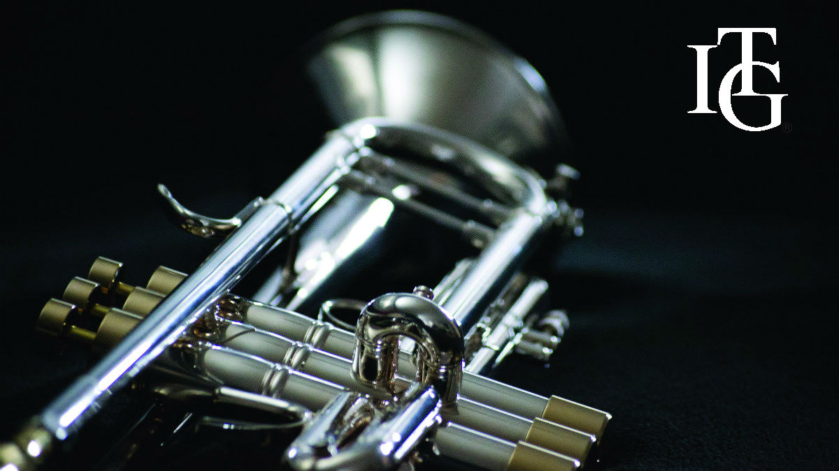 Trumpet with ITG logo