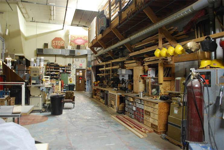 The Hartung Shop allows students to work on set design