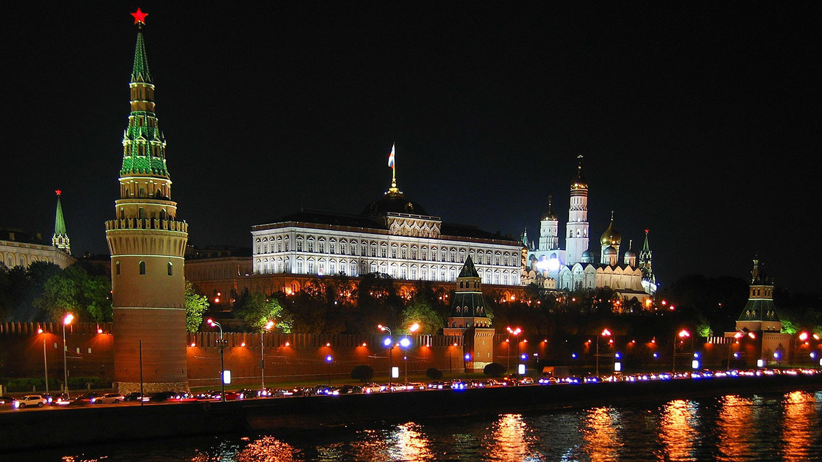 Moscow Russia, The Kremlin, at night