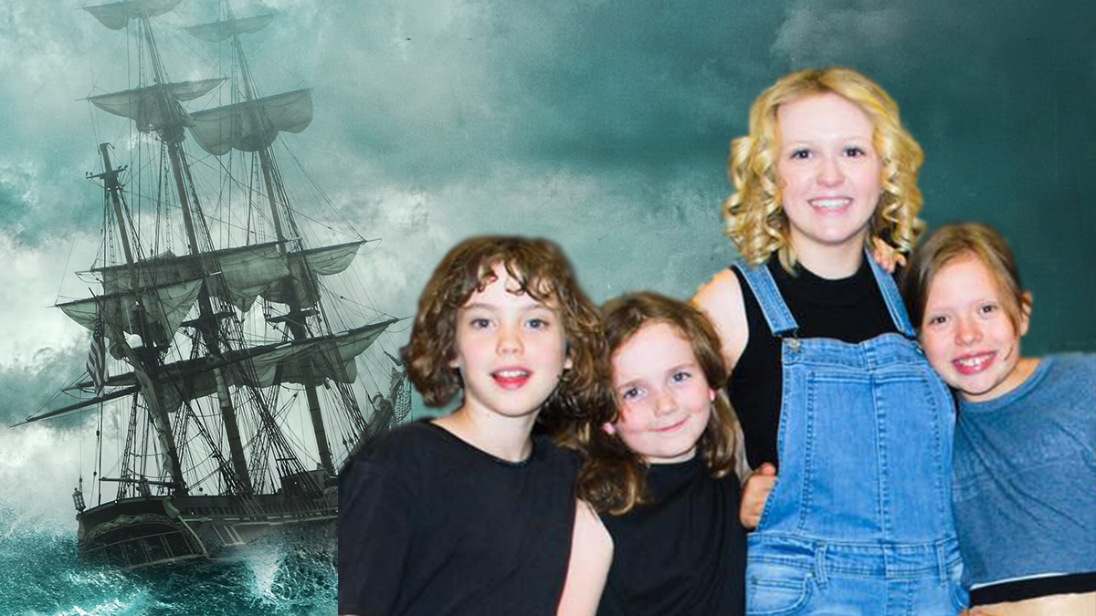 sailing ship and kids at camp