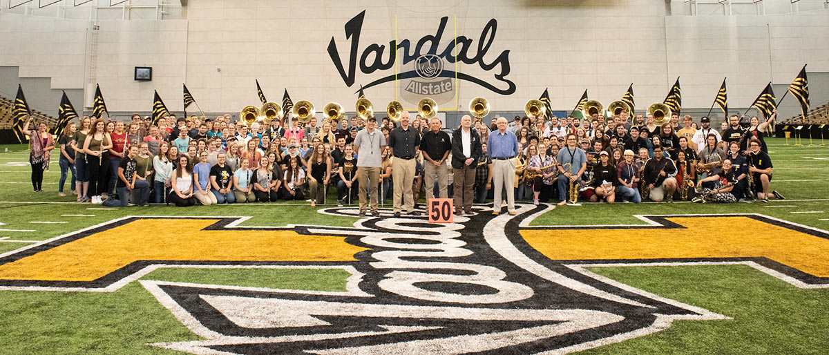 Vandal marching band and directors
