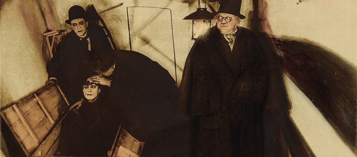 "Scene from ""Das Cabinet des Dr. Caligari"""