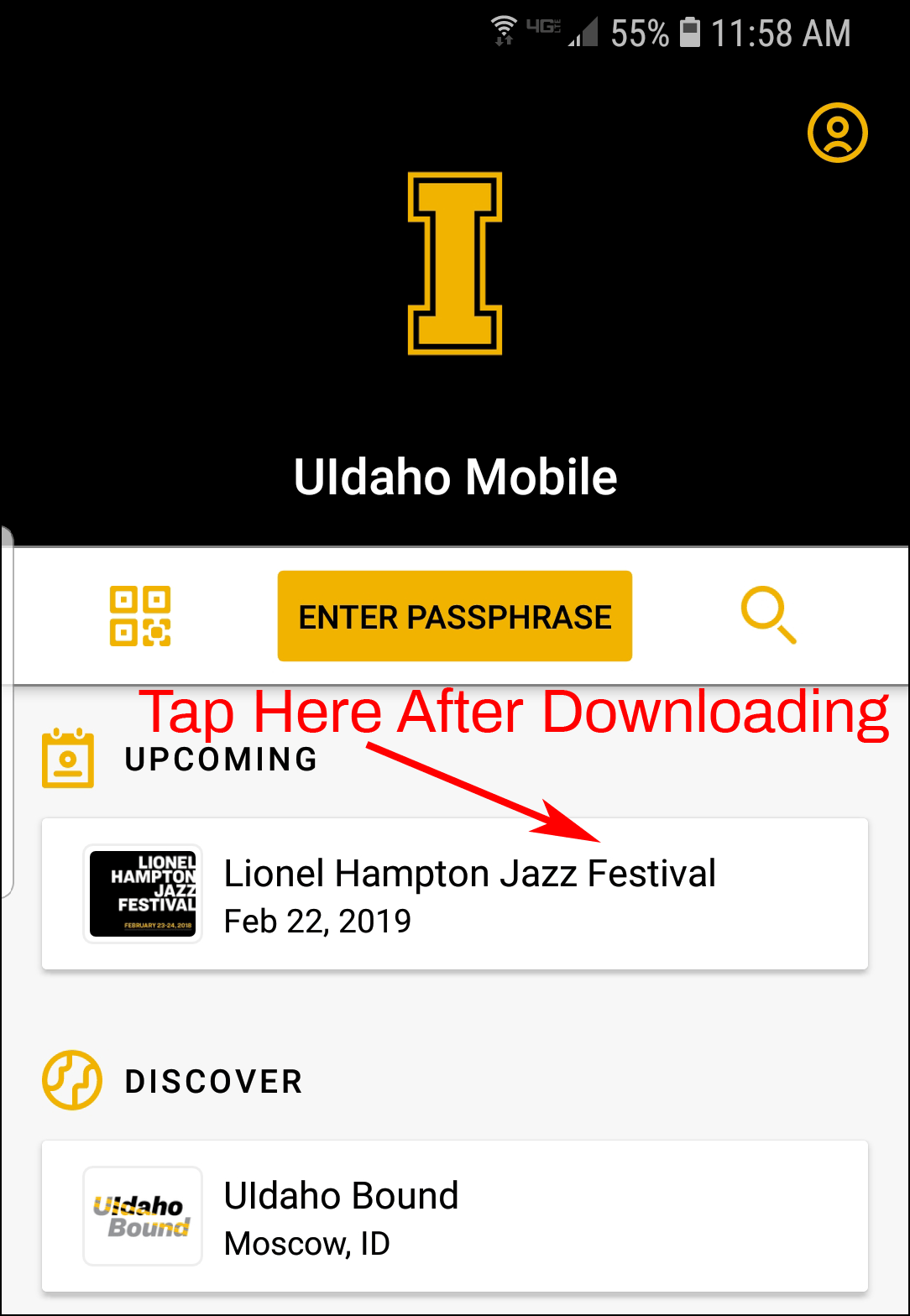 Jazz Fest Mobile App Screenshot