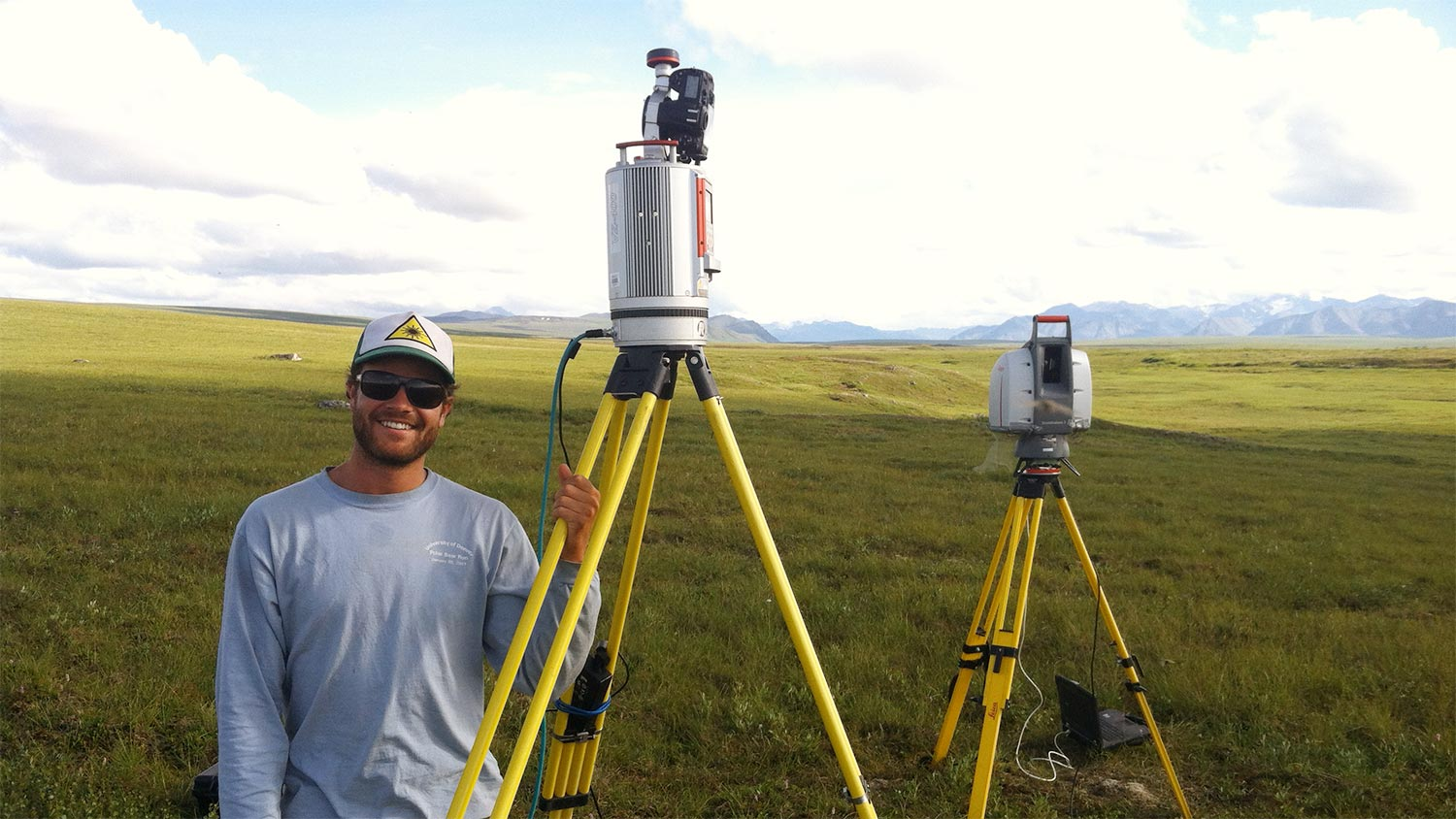 Troy Magney with remote sensing equipment